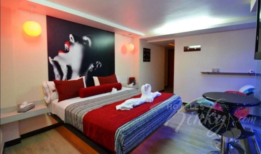 Habitaciòn Jacuzzi con Palo de lluvia del Love Hotel Huipulco
