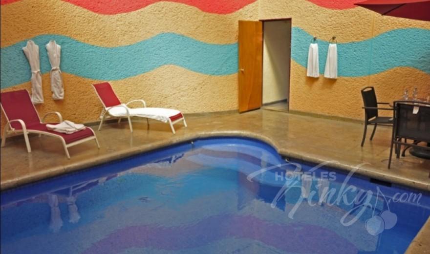 Love Hotel Auto Hotel Modena, Habitacion Alberca Junior