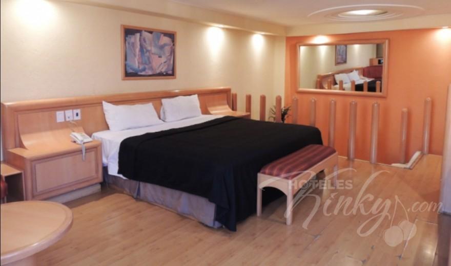 Love Hotel Villa Pórticos, Habitacion Cama de Agua