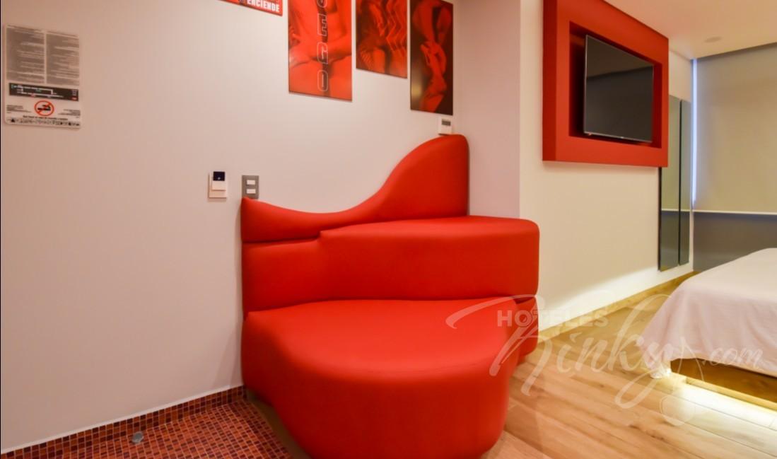 Habitaciòn Master Suite Jacuzzi Vapor  del Love Hotel Quinto Elemento