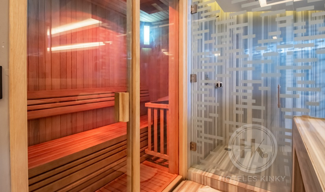 Habitaciòn Jacuzzi Sauna  del Love Hotel Picasso Lerma