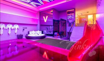 Love Hotel V Motel Boutique Viaducto, Habitacion Pool Villa