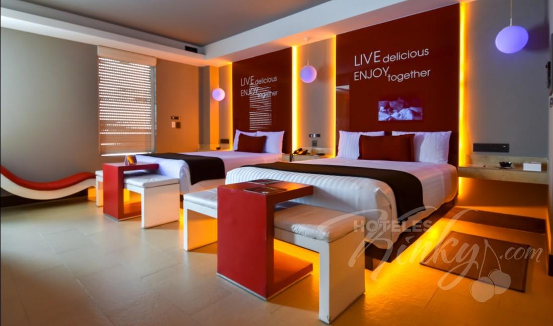 Love Hotel V Motel Boutique Viaducto, Habitacion Twin Suite
